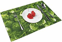 KAZOGU Dinner Table Mats Set of 4 Brussels Sprouts