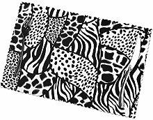 KAZOGU Set of 6 Placemats Zebra Pattern Durable