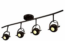 KBEST Ceiling Light Iron Retro American Track
