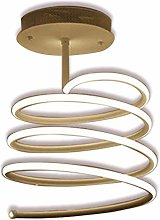 KBEST LED Dimmable Ceiling Lamp Modern Spiral