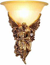 KBEST Retro Glass Lampshade Sconce Creative Angel