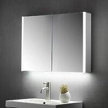 KBM-103 LED Bathroom Mirror Cabinet With Shaver