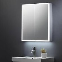 KBM-104 LED Bathroom Mirror Cabinet With Shaver
