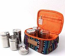 KBstore 6pcs Stainless Steel Seasoning Spice Jars