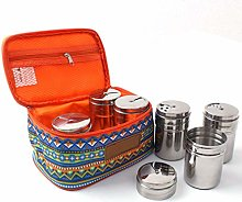 KBstore 6pcs Stainless Steel Seasoning Spice Jars