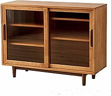 KCCCC Sideboard Cabinet Cherry Wood Wide