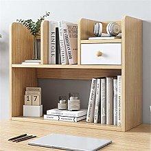 KCCCC Wood Mini Desk Shelves Bookshelf Wood