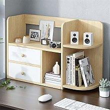 KCCCC Wood Mini Desk Shelves Display Rack Desktop