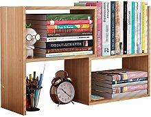 KCCCC Wood Mini Desk Shelves DIY Table Adjustable