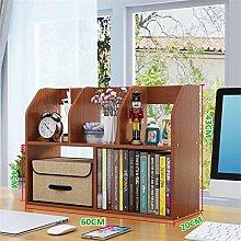 KCCCC Wood Mini Desk Shelves Media RackDesktop