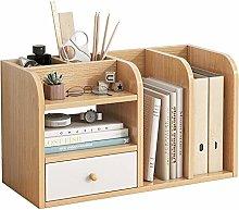 KCCCC Wood Mini Desk Shelves Shelf Rack Desktop