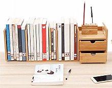 KCCCC Wood Mini Desk Shelves Small Desktop