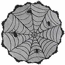 Kcibyvx 40 Inch Halloween Black Spider Table Cloth