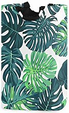 Kcldeci Green Monstera Palm Leaves Laundry Hamper