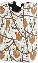 Kcldeci Tropical Funny Sloths Laundry Basket Tree