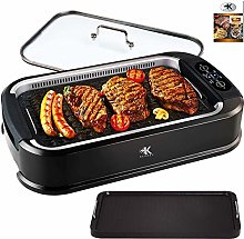 KCZAZY Electric Smokeless Grill, Indoor and