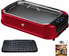 KCZAZY Electric Smokeless Grill with Glass Lid,