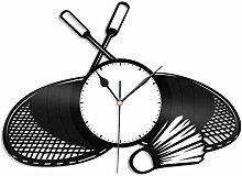 KDBWYC Badminton vinyl wall clock unique gift for