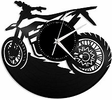 KDBWYC Bicycle vinyl wall clock unique gift for