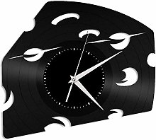 KDBWYC Cheese vinyl wall clock record unique