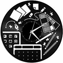 KDBWYC Designer vinyl wall clock unique gift for