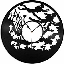 KDBWYC Diving vinyl wall clock unique gift for