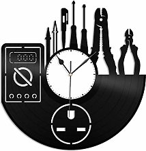 KDBWYC Electrician vinyl wall clock unique gift