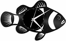 KDBWYC Fish vinyl wall clock unique gift for