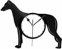 KDBWYC Greyhound Vinyl Wall Clock Gifts for Dog