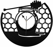 KDBWYC Honey vinyl wall clock unique gift for