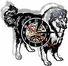 KDBWYC Retro record clock Alaska vinyl wall clock