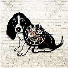 KDBWYC Retro record clock Bessel vinyl wall clock