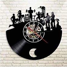 KDBWYC Retro record clock bodybuilding vinyl wall