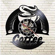KDBWYC Retro record clock cafe vinyl wall clock