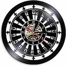 KDBWYC Retro record clock darts vinyl wall clock