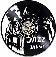 KDBWYC Retro record clock Jazz vinyl wall clock