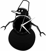 KDBWYC Snowman vinyl wall clock unique gift for