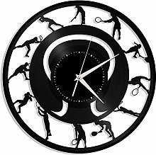 KDBWYC Tennis vinyl wall clock unique gift for