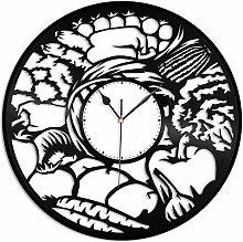KDBWYC Vegetable vinyl wall clock unique design