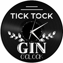 KDBWYC Wine clock vinyl wall clock unique gift for