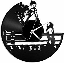 KDBWYC Wrestling vinyl wall clock unique gift for