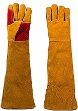 KDOI Leather Welding Gloves, 60cm Long Sleeves