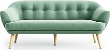 Keaton 3 Seater Sofa Hykkon Upholstery Colour: