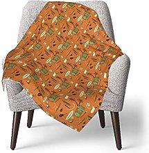 keben baby blanket Baby Blanket,Orange Retro