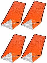Kecheer Sleeping Bag 4PCS Reusable Orange
