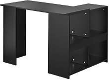 Keebgyy L-Computer Desk with Large Storage Space