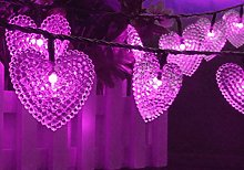KEEDA 20LED Heart-Shape Solar Fairy String Lights,