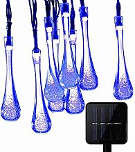 KEEDA 20LED Solar String Lights Waterdrop Fairy