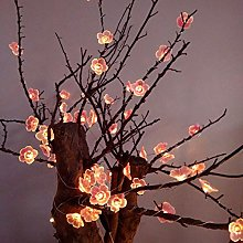 KEEDA 30LED Pink Cherry Blossoms Copper Wire Fairy