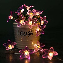 KEEDA 30LED Pink Lily Flower Copper Wire Fairy